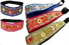 #3773 Two Pack Lot Embroidered Headband Head Wrap Hand Made Peru Hair Band Pack