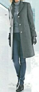 Mantel Wollmantel Damenmantel Übergangsmantel Wolle grau 36 48 50 52