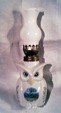 tres joli petit bibelot lampe en porcelaine chouette / a meche