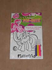 NEW, MY LITTLE PONY POP-OUTZ 2 COLOR & PLAY ACTIVITY BOARDS + MARKERS, FLUTTER