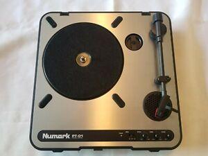NUMARK PT-01 PORTABLE TURNTABLE RECORD PLAYER - EXCELLENT CONDITION DJ PT01
