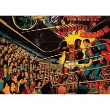 Superman V Muhammad Ali 1978 Giant mural arte cartel impresión 50x35 pulgadas