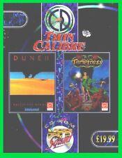 DUNE 2+LURE OF TEMPTRESS pc giochi cd rom cartonato big box BATTLE for ARRAKIS