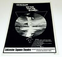David Bowie Rare Man Who Fell to Earth London Premiere Advert 11 x 7.5 Inches