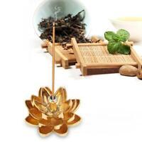 Exquisite Mini Lotus Incense Burner Gold Line Incense Stick Lotus Flower Decors