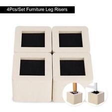 4pcs Risers Heavy Duty Furniture Raisers Elephant Feet for Under Bed Storage UK