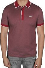 Hugo BOSS Men's Polo Shirt Paddy 5 Short Sleeve 50392665 607 Dark Red