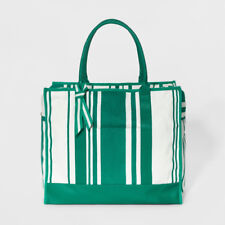 Canvas Striped Extra Large Weekender Bag A New Day Target Green White Carry  On 4ebbdd1e47876