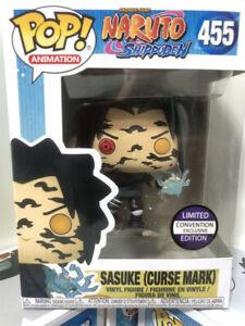 Funko Pop! Animation Naruto Shippuden - Sasuke (Curse Mark) #455 With Protector