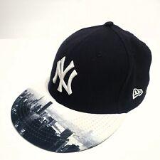 NEW YORK YANKEES Skyline New Era 59Fifty Unisex Black Baseball Cap Size 7 1/4