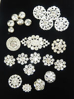 Vintage Rhinestone Buttons - Set of 23