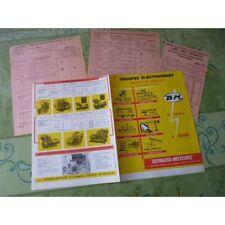 Bernard Moteurs, groupes électrogènes, catalogue brochure dépliant