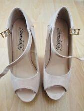 Timeless Shoes Platform Peep Toe Nude (UK 4)