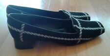 Women's Black Stiched Block Heel Shoes US Size 6,5B  by Kate Spade