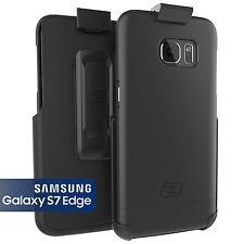 Samsung Galaxy S7 EDGE Hard Case Ultra-Thin  Slim-Shield Belt Clip Holster Black