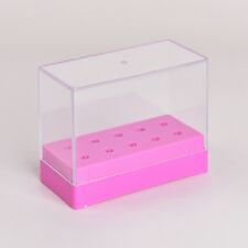 10 Holes Nail Art Drill Bit Holder Stand Displayer Organizer Manicure Box JDUK