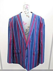 "Samuel Windsor Boating Henley Regatta Blazer Stripe Jacket Mens Chest Size 48"""