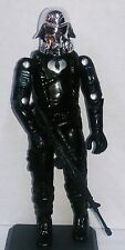 NEW G.I.JOE BLACK MAJOR CUSTOM CHROME DOME NIGHT OPS TERROR TROOPER.