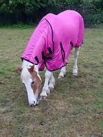 New Design Horse fly rug combo attached neck cover Choice of colors free Postage