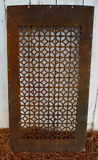 Vtg Decorative Iron Screen or Furnace Intake Grate for Use or Repurpose