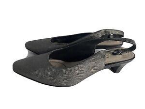 Size 8c DIANA FERRARI Super Soft Grey Pointed Office Heels Work Wear Formal