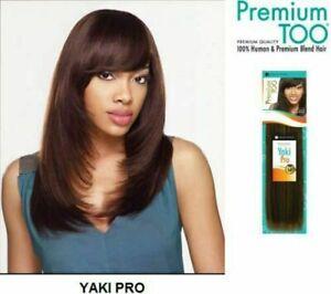 "Sensationnel Premium Too Yaki Pro 8""-18"" Human Hair & Blend Weave-Free UK Post"