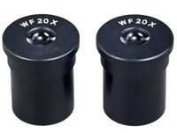 Brand New Pair of WF20X Wide Field Biological Microscope Eyepieces (23.2mm)