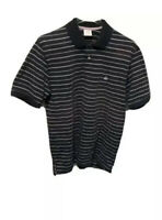 Brooks Brothers Mens Polo Shirt Blue Striped 100% Cotton Short Sleeve Collared L