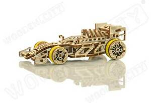 3D Puzzle Kinetic Racing Car Model BOLIDE Engineering and STEM by Wooden City
