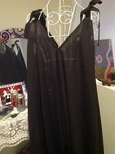 BLACK JUMPSUIT OVERALL ALL IN ONE BOHO RAYON  fits Size 8,10,12,14,16,18, 20, 22