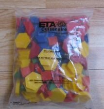 Eta Cuisenaire 1Cm Pattern Blocks Complete Set 250 Brand New & Sealed