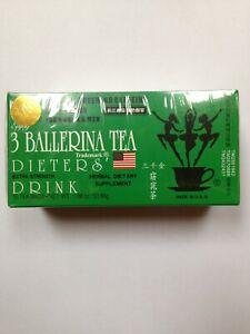 6 Boxes Three 3 Ballerina Herbal Tea Dieters' Drink Extra Strength 108 Teabags