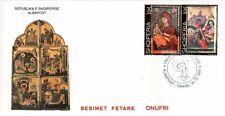 Albania 1999. Onufri Byzantine Painting. Icons from Onufri. FDC MNH. Mi 2712-13