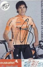 CYCLISME repro PHOTO cycliste KOLDO FERNANDEZ DA LARREA équipe EUSKALTEL  signée