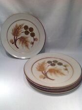 Vintage Denby Set Of 6 Side/cake Plates Brown Beige Cotswold