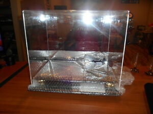 Acrylic Mirrored Full Size Football Helmet Display Case With Black & Gold Base