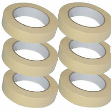 2x LOW TACK MASKING TAPE 25MM X 50M PAINT PAINTING MASK DECORATE WALLS Remove