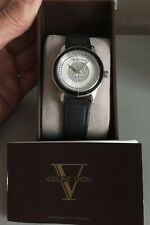 Celine Dion Watch, Crystal Accents and Leather Strap