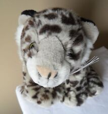 "LEOPARD K & M Plush Stuffed Leopard  Animal 2005"" Toy Jungle Cat Yellow Eyes"