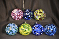 TWIN BROTHERS Art Glass Hand Blown Christmas Ball Ornament New