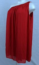 A1c Beautiful One Shoulder Lane Bryant 26 Gorgeous Red Flowing Dress Org Cost 79