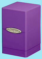 ULTRA PRO SATIN TOWER PURPLE DECK BOX New Card Dice Compartment Storage Gaming