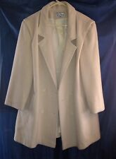 Solid cream Basic coat  20W double breasted button front pockets Kay boys