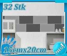 32x Fliesenaufkleber 15x20cm, Aufkleber Bad Küche, Fliesendekor, Kacheln 1K020_9