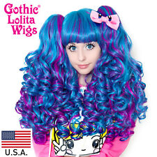 Gothic Lolita Wigs® Baby Dollight - Turquoise & Magenta Blend
