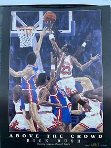 """Vintage Limited Edition Michael Jordan """"Above the Crowd"""" by Rick Rush #2067/5000"""