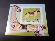 GUINEE 1985, BLOC timbre aérien 185 NON DENTELE', CHIEN BERGER, neuf**, MNH, DOG