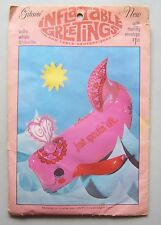 Rare 1973 Gibson Inflatable Greetings Happy VALENTINE'S DAY WILLIE WHALE Pink