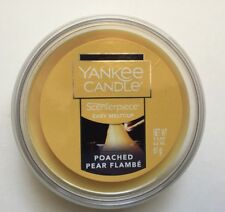 YANKEE CANDLE SCENTERPIECE POACHED PEAR FLAMBÉ EASY MELT CUP FRUIT SCENT NEW
