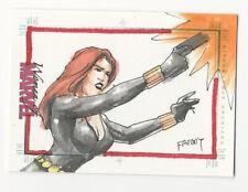 Black Widow 2013 Women of Marvel Series 2 Sketch Card by Freddy Lopez Jr. 1/1